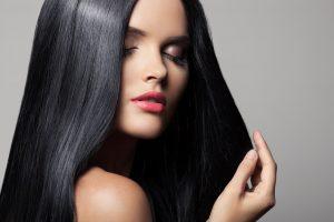 Beautiful Brunette Girl. Healthy Long Hair. Hairstyle